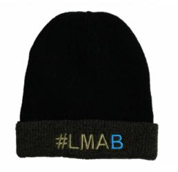 #LMAB Beanie-schwarz/moosgrün