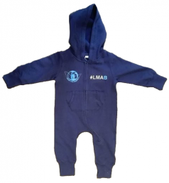 """Baby-Strampler, """"#untermaßig"""" navy-blau"""