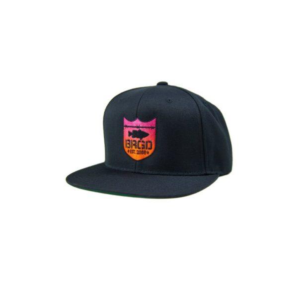 Bass Brigade Shield Logo Gradient Snapback Black / Sunset