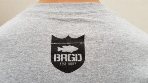 BRGD Logo schwarz/grau Nackenansicht Hinten