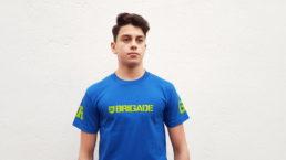 "Bass Brigade T-Shirt ""Bass-Brigade"" blau/grün"