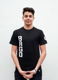 """Bass Brigade T-Shirt """"BRGD"""" (schwarz/weiß)"""