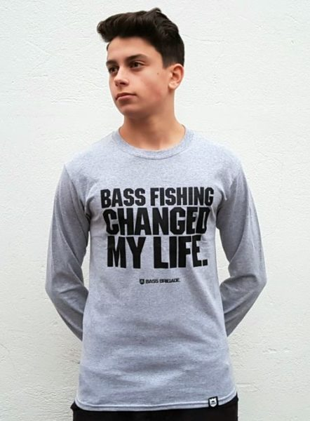 "Bass Brigade Shirt ""Bass Fishing Changed My Life"" (Longsleeve)"