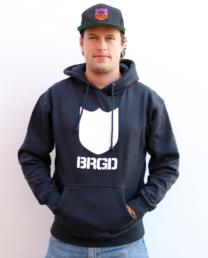 Bass Brigade Bold Shield BRGD Hoodie (navy/weiss)