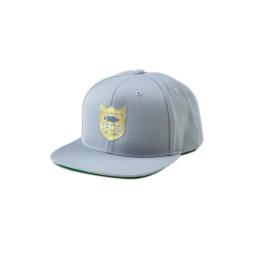 Bass Brigade Shield Logo Snapback grau/gold