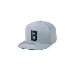 "Bass Brigade ""B"" Logo Snapback grau/schwarz"
