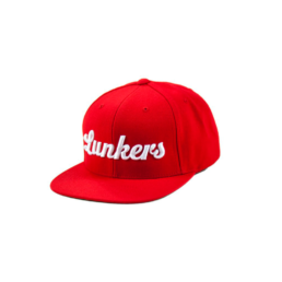 Bass Brigade Lunkers Logo Snapback rot/weiss